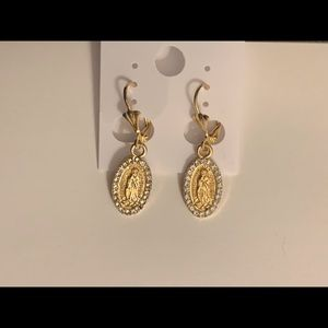 Guadalupe gold plated earrings